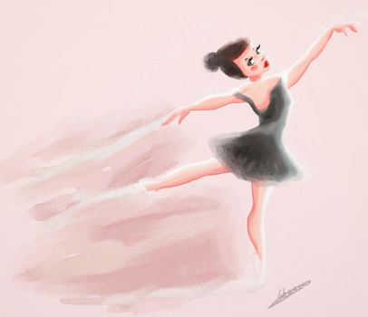 Ballerina in water color by lulemee