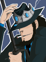 Jigen put on a tiara by yamadacaje