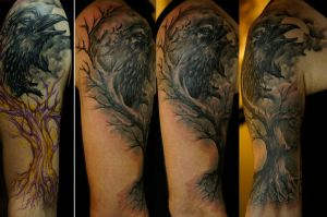 Crow halfsleeve WIP by strangeris