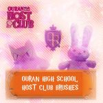Ouran High BRUSHES by SuperMarioSweetie