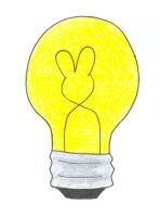 Lightbulb bunny by Currykat