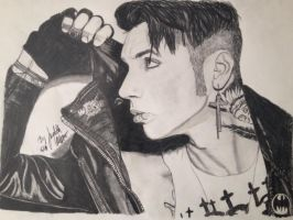 Andy Biersack Black veil Brides finished by xxdaswarwohlnix