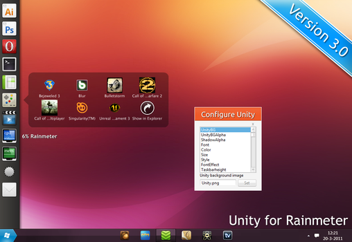 Unity for Rainmeter 3.0 by hello-123456