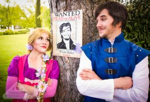 Rapunzel and Flynn Ryder Fairytale by chamellephoto