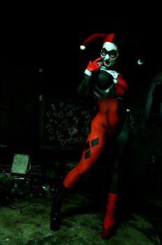 Hex Hypoxia as Harley Quinn by rabidgirlscout