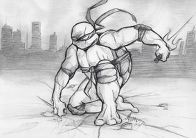Battle Scarred Raph by PenguinAttackStudios