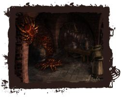 Monsters in Dungeon's kitchen by Emilie-la-vraie