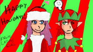 Mandatory Holiday Picture by LatiasGirl93