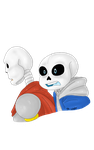 Sans and Papyrus 2 by FairyGodAngel