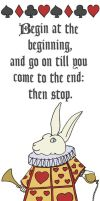 White Rabbit Bookmark by comicalclare