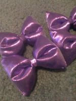 Purple puffy bows by jely-claris-anne