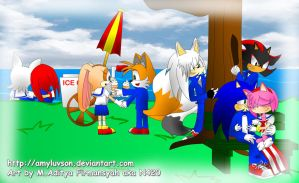 Sonic HS - Love Park by Ran-TH