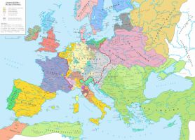 Europe (AD 1556) ~ The Age of Habsburg by Undevicesimus