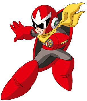 Proto Man Free Use Artwork by ZEDIC0N