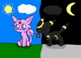 Mew And Umbreon mew and shiny mew by N...