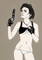 girl with gun by devitant