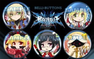 Blazblue Buttons by jinyjin