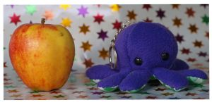 Octoplushie Keychain by Cautionary-threads