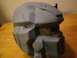 Halo 4 Spartan 4 helmet, progress photo by Hyperballistik