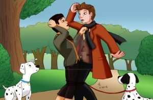 disney!klaine - 101 Dalmatians by ChemicalRejectBoys