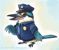 Officer Fisher by Lintufriikki