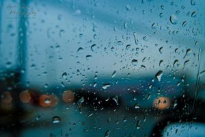 Raindrops on Car Window by GothicAmethyst