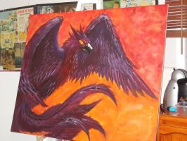 Old painting- Phoenix by AussieDragoness