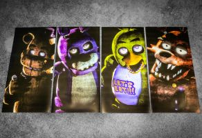 Custom Five Nights at Freddy's Posters! Link Below by gold94chica