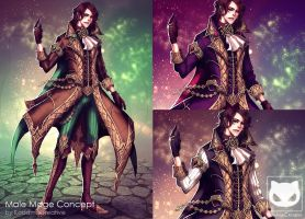 Commission Custom Concept Design : Male Mage by KodamaCreative