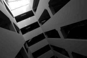 Monochromatic Abstract - Carpark by frankcom