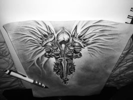 Tyrael, Angel Of Justice.  by naomieileen
