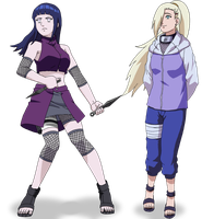 Ino-hinata head swap Color by Insert-artistic-nick