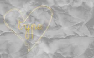 Crumpled Typography Wallpaper by littleboxofideas