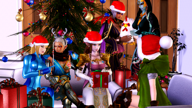 Christmas (6b - Hyrule and guest) by AdeptusInfinitus
