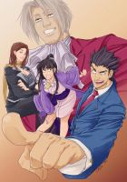phoenix wright - hold it by chirart