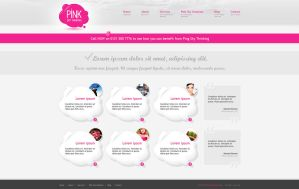 Web design: Pink Sky Thinking by VictoryDesign