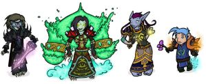 Warcraft Chibis Set8 by feedapollyon