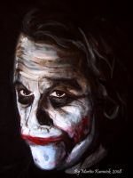 Joker -Smirk Detail by Martinkumnick