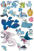 All the water types by nicaranime