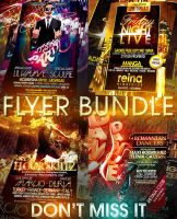 PSD Amazing Flyer Bundle - 4in1 by retinathemes