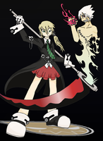 Soul Eater - Maka And Soul by hielorei