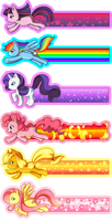 My Little Pony Bookmarks by Willow-San