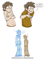 RS - Human Rigby sketches by AdriOfTheDead