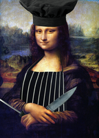 Chef Mona Lisa by MrAngryDog