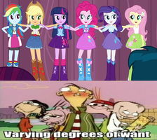 The Males of Ed Edd n Eddy Reaction Equestria Girl by KeybladeMagicDan