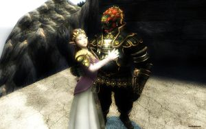 Zelda y Ganondorf by darklinksmash