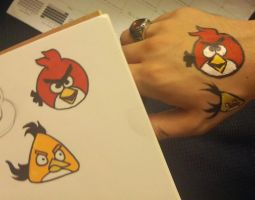 Angry Birds Face Paint: Test 1 by thefxfox