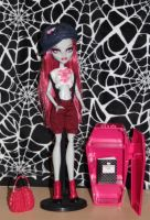 Samantha Bones monster high custom doll by rainbow1977