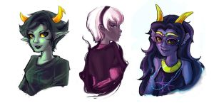 Homestuck Girls by maocha