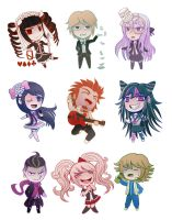 Danganronpa Chibi Set #1 by AlexisRoyce